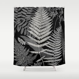 The fern paradise- a plea for the culture of ferns - Francis George Heath - 1908 Ink Black and White Shower Curtain