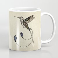 hummingbird Mugs featuring Hummingbird by Andreas Preis