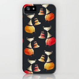Greedy Cats Love Cake iPhone Case