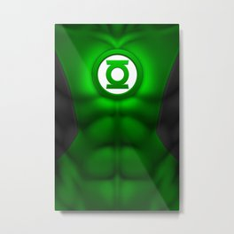 Green Lantern: Superhero Art Metal Print