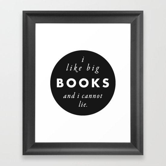 Big Books Love Framed Art Print