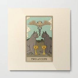 Two of Cups Metal Print