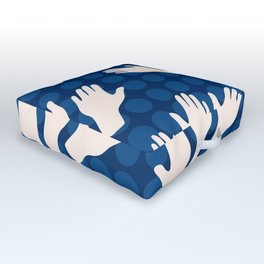 Waving Hands Outdoor Floor Cushion