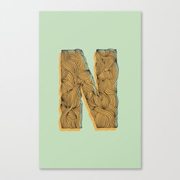 """N"" Doodle  Canvas Print"
