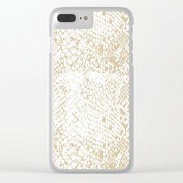 Snake Skin Soybean Clear iPhone Case