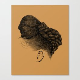 Crown: Twisted Updo with Bun Canvas Print