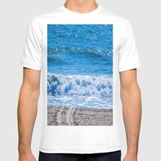 Blue Ocean MEDIUM White Mens Fitted Tee