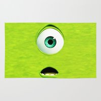 monster inc Area & Throw Rugs featuring Monster Inc Mike by Veylow