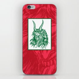 Here Comes Krampus! iPhone Skin