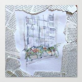 nyu windowbox newsprint collage Canvas Print
