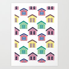 The Colorful Beach Houses Art Print