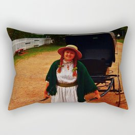 Anne of Green Gables Pulls the Carriage Rectangular Pillow