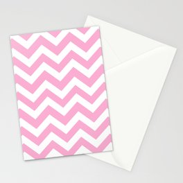 Lavender pink - pink color - Zigzag Chevron Pattern Stationery Cards