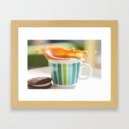 Coffee Splash Framed Art Print