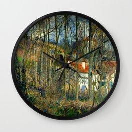 "Camille Pissarro ""The Côte des Bœufs at L'Hermitage"" Wall Clock"