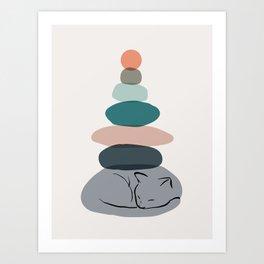 Cat Landscape 58 Art Print