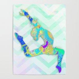 Gymnast Jump Poster