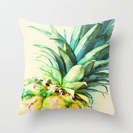 Green Pineapple Throw Pillow