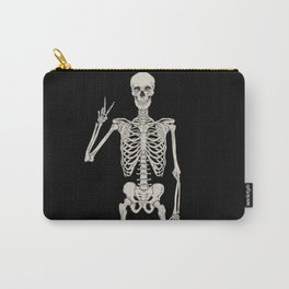 Skeleton Two Finger Pose Carry-All Pouch
