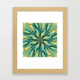 Swirly Flower Abstract 07 Framed Art Print