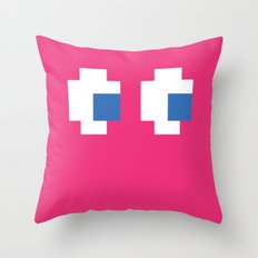Pacman Ghost Eyes Throw Pillow