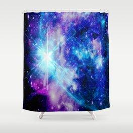 galaxy Nebula Star Shower Curtain