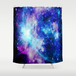 galaxy Nebula Star Shower Curtain