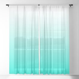 Mint Ombre Sheer Curtain