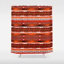 Ethnic stripes. Tribal pattern Indians. Shower Curtain