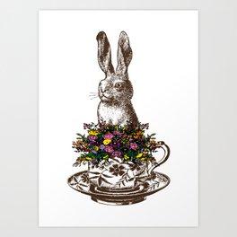 Rabbit in a Teacup Art Print