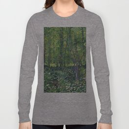 1887-Vincent van Gogh-Trees and undergrowth Long Sleeve T-shirt