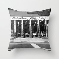 broadway Throw Pillows featuring Broadway by Jon Cain