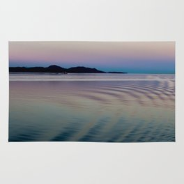 Alaskan Sunset At Sea Rug
