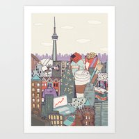 toronto Art Prints featuring Toronto by Ashley Ross