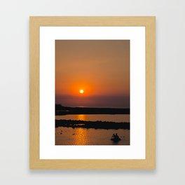 Mumbai Sun (vertical) Framed Art Print