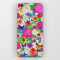 florence iPhone & iPod Skins featuring Florence  by sarah illustration