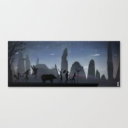 Ready for the battle Canvas Print
