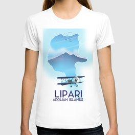 Lipari Map T-shirt
