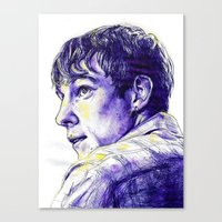 my mad fat diary Canvas Prints featuring My Mad Fat Diary - Finn Nelson by Sara (aka Wisney)