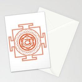 Sri Yantra Sacral Chakra Stationery Cards