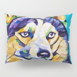 Pop Art Husky Pillow Sham