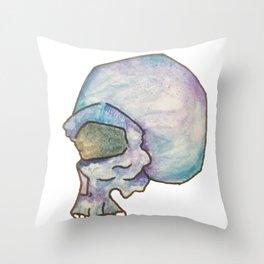 space skull Throw Pillow