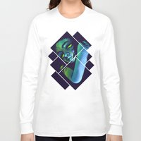 dead Long Sleeve T-shirts featuring dead  by digitallyimpaired