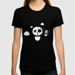 Panda Pirate with Flag T-Shirt for all Ages Da19o T-shirt