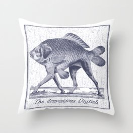 IF FISHES HAD LEGS (navy) Throw Pillow