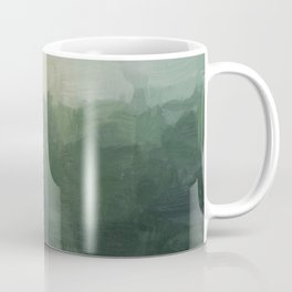 Gray Fog Green Hills Abstract Nature Scenic Painting Art Print Wall Decor  Coffee Mug