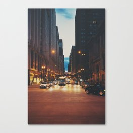 the streets of Chicago ... Canvas Print