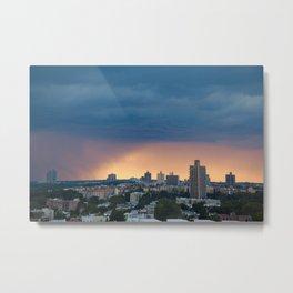 Sunset Rain Storm Metal Print