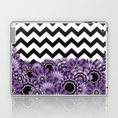 Purple Flower Chevron Laptop & iPad Skin