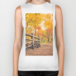 Autumn Path Central Park New York City Biker Tank